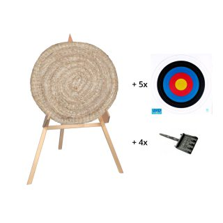 Bearpaw Straw Target set small